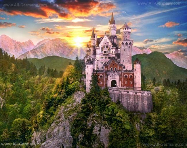 Сказочный баварский замок - Нойшванштайн