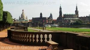 Достопримечательности Дрездена, Германия.