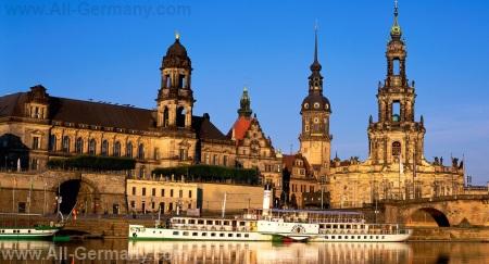 Вид на центр Дрездена