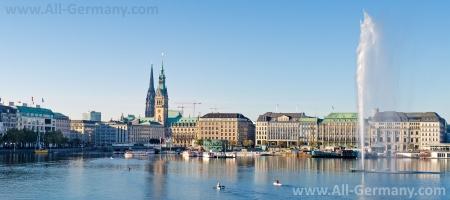 Вид на центральную часть Гамбурга