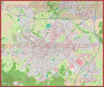 Подробная карта города Ахен