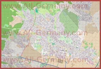 Подробная карта города Бад-Хомбург
