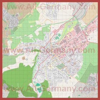 Подробная карта города Бад-Кройцнах