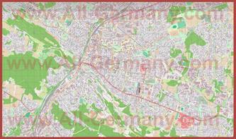 Подробная карта города билефельд