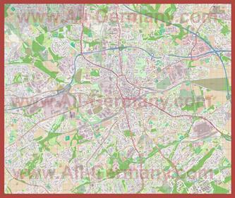 Подробная карта города Бохум