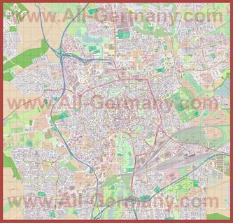 Подробная карта города Брауншвейг