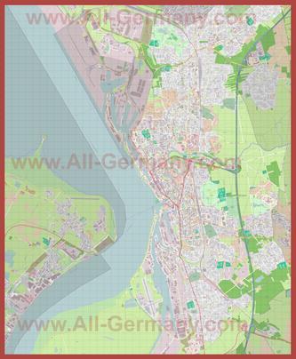 Подробная карта города Бремерхафен