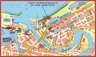 Туристическая карта Бремерхафена с достопримечательностями