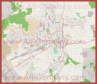 Подробная карта города Цвиккау