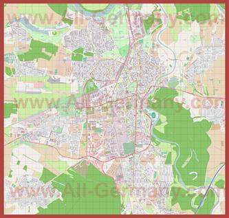 Подробная карта города Дессау