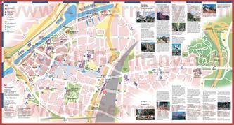 Туристическая карта Дуйсбурга с достопримечательностями