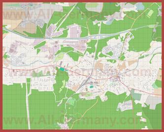 Подробная карта города Эберсвальде