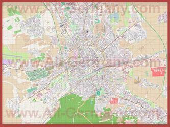 Подробная карта города Эрфурт