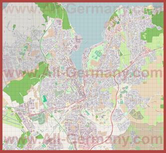 Подробная карта города Фленсбург