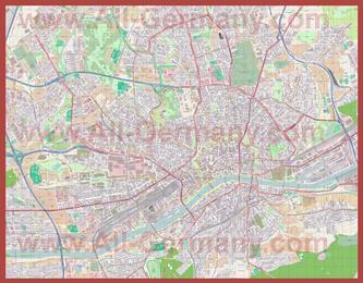 Подробная карта города Франкфурт-на-Майне