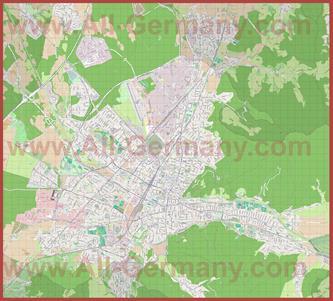Подробная карта города Фрайбург