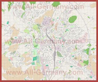 Подробная карта города Фульда