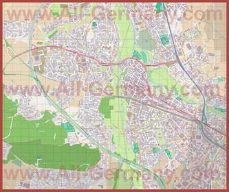 Подробная карта города Фюрт