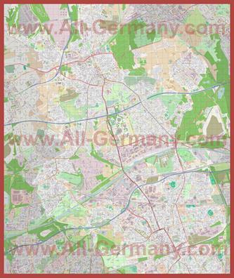 Подробная карта города Гельзенкирхен