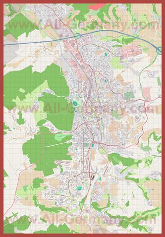 Подробная карта города Гера