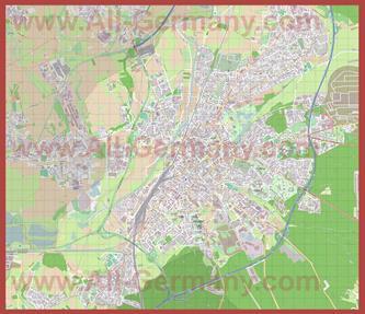 Подробная карта города Гиссен