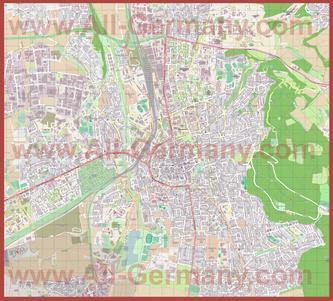 Подробная карта города Гёттинген