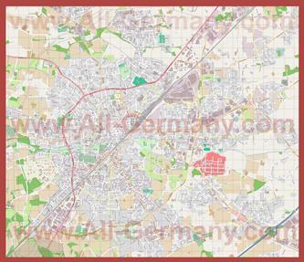 Подробная карта города Гютерсло