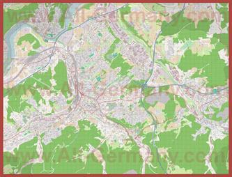 Подробная карта города Хаген