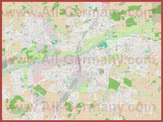Подробная карта города Хамм
