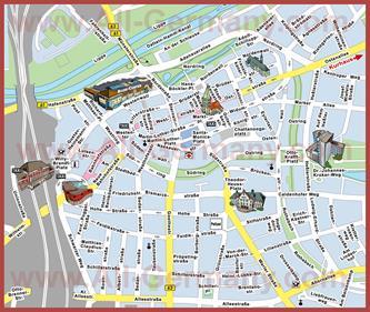 Туристическая карта Хамма с достопримечательностями