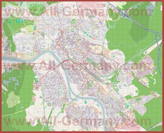 Подробная карта города Ханау