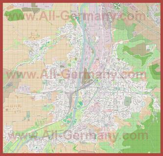 Подробная карта города Хайльбронн