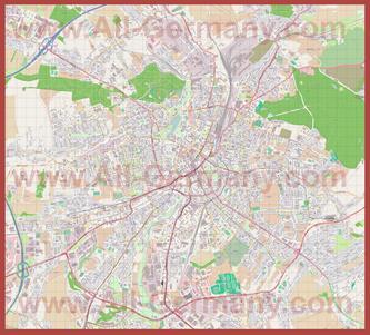 Подробная карта города Хемниц