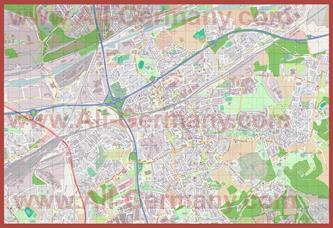 Подробная карта города Херне