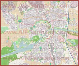 Подробная карта города Ингольштадт