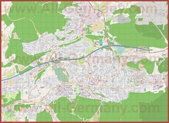 Подробная карта города Изерлон
