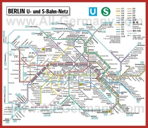Карта метро Берлина (Схема)
