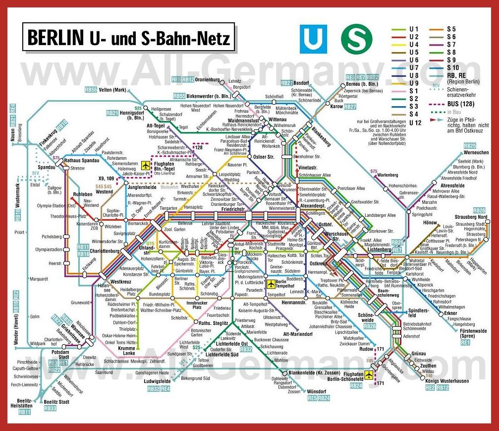 Схема метро в берлине