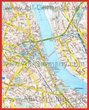 Карта города Бонн