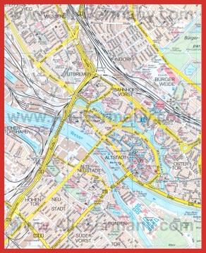 Подробная карта города Бремен