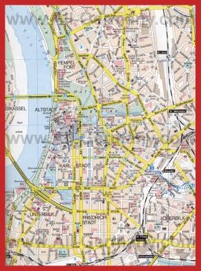 Карта города Дюссельдорф