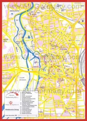 Подробная карта города Галле