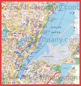 Подробная карта города Киль