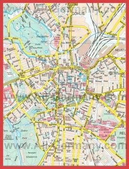 Туристическая карта города Лейпциг