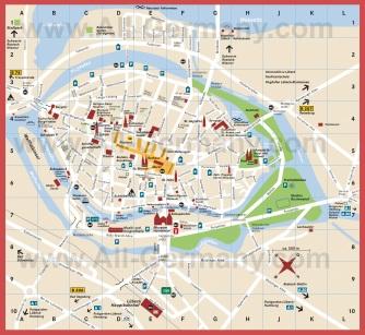 Подробная карта города Любек