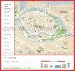 Туристическая карта Любека с достопримечательностями