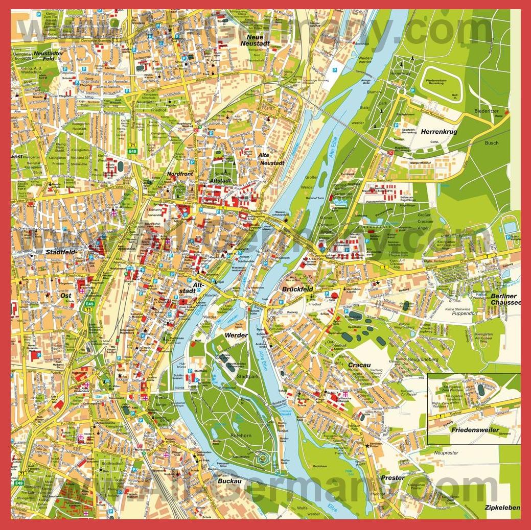 Карта магдебурга
