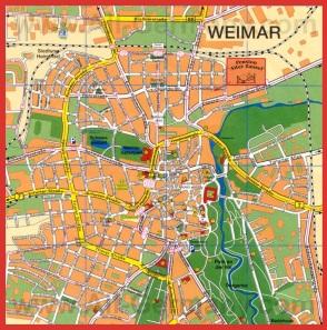 Подробная карта города Веймар