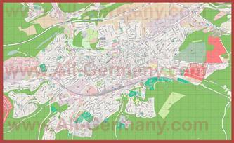 Подробная карта города Кайзерслаутерн