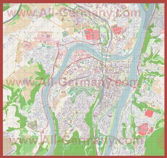 Подробная карта города Кобленц